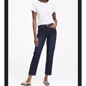 BANANA REPUBLIC RELAXED STRAIGHT ANKLE JEAN 25